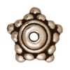 Bead Cap Beaded Star 9mm Antique Silver